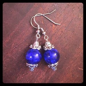 Jewelry - 💖✨Elegant Blue Sparkle Silver Earrings✨💖